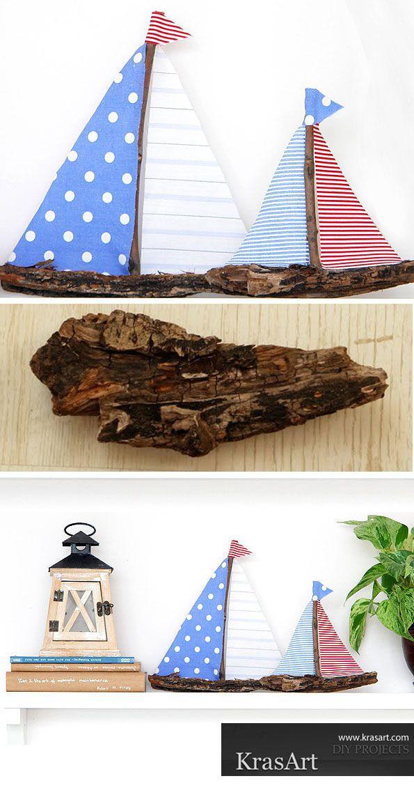 DIY bark boats