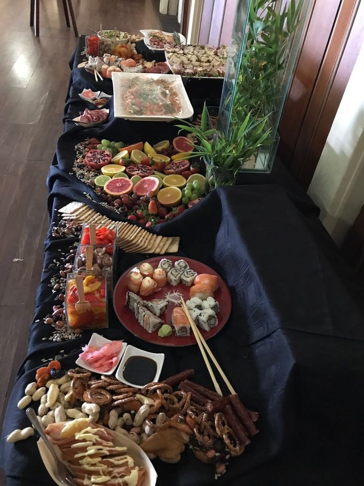 Lunch time snack table