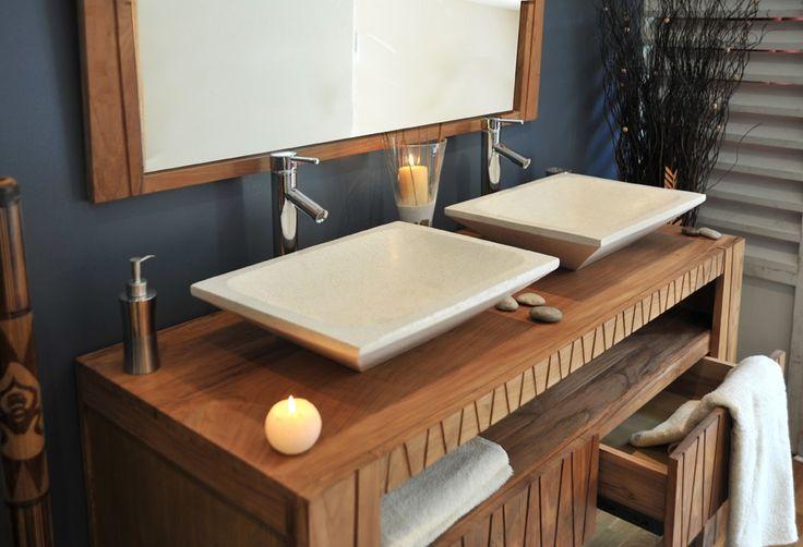 meuble-salle-bain-teck.fr/ Dimensions : - Hauteur : 15 cm ...