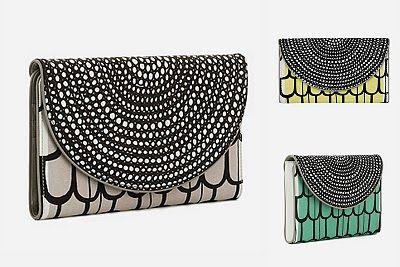 Marimekko makes some fabulously patterned clutches.