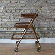 How Gorgeous is this mid-century bar cart?!