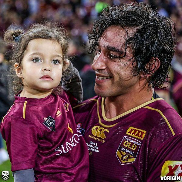 Johnathan Thurston and his baby girl Charlie