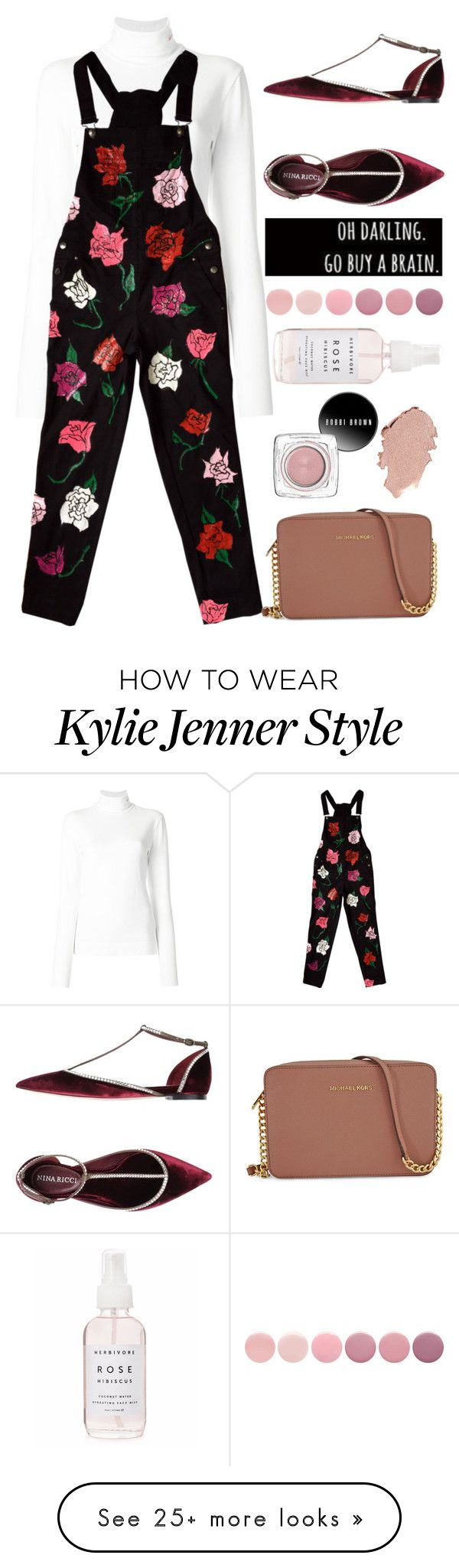 """""""rose me up"""" by lseed87 on Polyvore featuring Calvin Klein 205W39NYC, Nina Ricci, Deborah Lippmann, Holly's House and Michael Kors"""