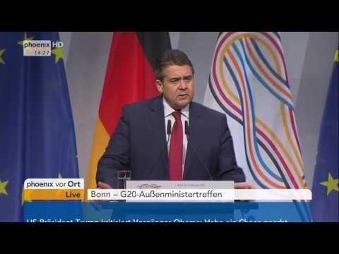 G20 Außenministertreffen  Rede von Sigmar Gabriel am 17 02 2017