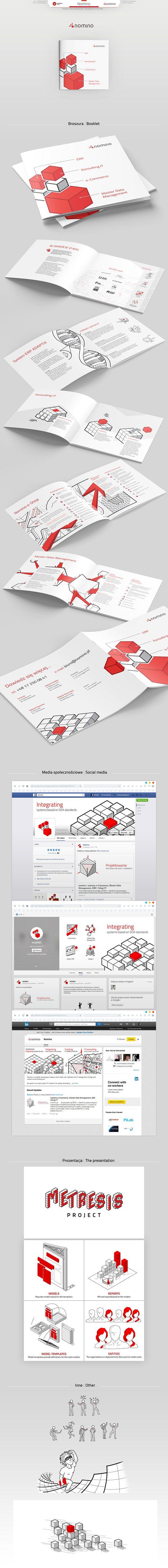 Nomino #illustration, #lineart, #corporateidentity, #leaflet, #website, #drowings