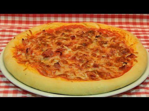 Cómo hacer masa de pizza gruesa y esponjosa / Receta fácil - YouTube