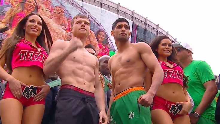 CANELO-KHAN WEIGH IN RESULTS...#Khanelo #Boxing