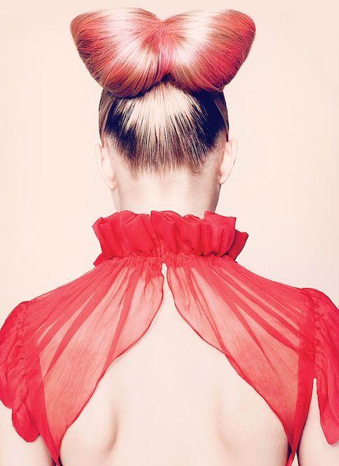 .: Hairbows, Bows Ties, Diy Hair, Bows Tutorials, Pink Bows, Hair Bows, Red Hairstyles, Redhair, Red Bows