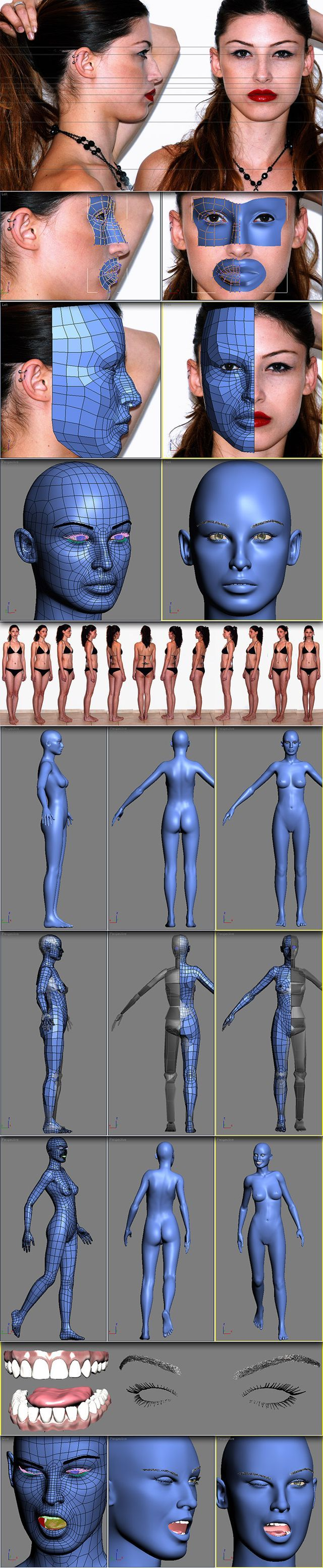 Female Face/Body topology