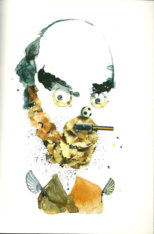 Roberto Fontanarrosa. Retrato realizado por el artista Pablo Bernasconi http://www.pbernasconi.com.ar/home.htm