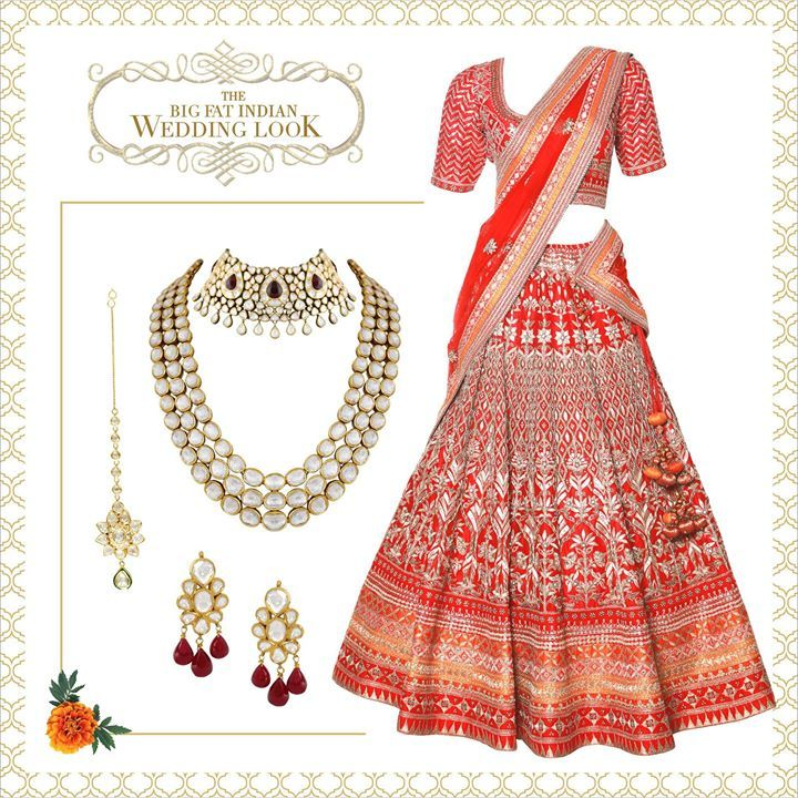 Every girl's childhood dream- a red bridal lehenga and timeless heirloom jewellery. #Anitadongre #PinkCity #jewellery #bridal #bridalwear