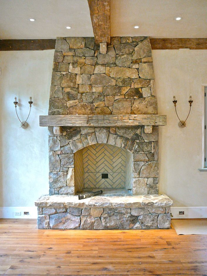 rough hewn mantel, hand hewn mantel, fireplace mantel with beams