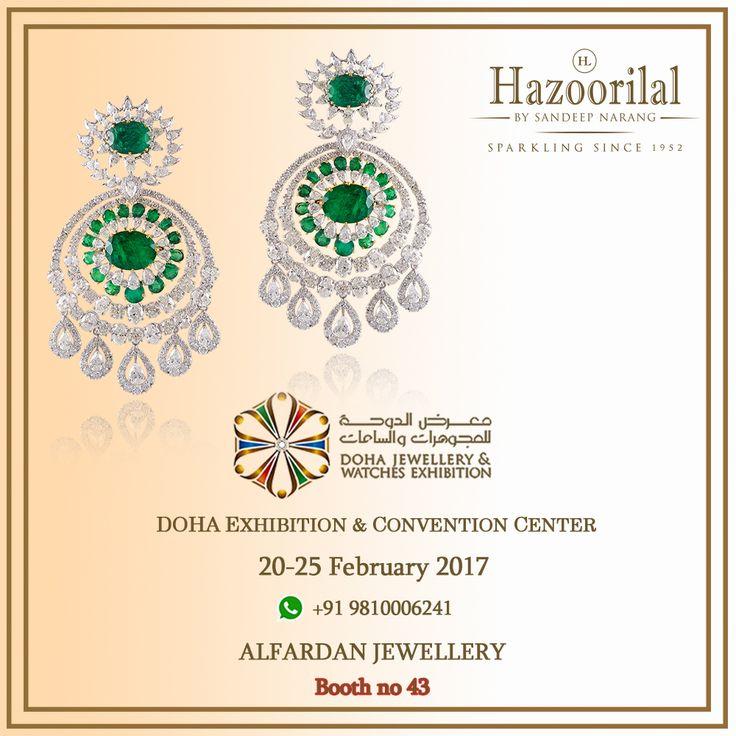 An exquisite display of Jewels from the master craftsman at Doha Jewellery & Watches Exhibition.  #HazoorilalBySandeepNarang #HazoorilalEvents #DECC @djweofficial #Doha #Qatar #Diamonds #Emeralds #LuxuryJewelleryEvents #ItcMaurya #DlfEmporio #HazoorilalJewellers #Hazoorilalò
