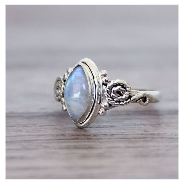 Moonstone Ring | Bohemian Jewelry | Indie and Harper ❤ liked on Polyvore…