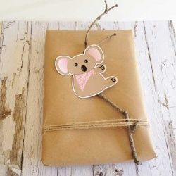 Decorate your gifts or cards with this Cute Koala. Includes a free Silhouette Cutting File.