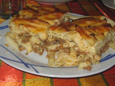 Retete grecesti: Macaroane cu carne (Pastitsio - Παστίτσιο)