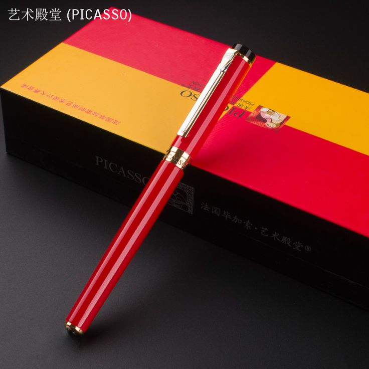 PICASSO 908 Red Gold Clip High Quality Fine Nib ink pen luxury school Office Stationery Metal fountain pens for sale