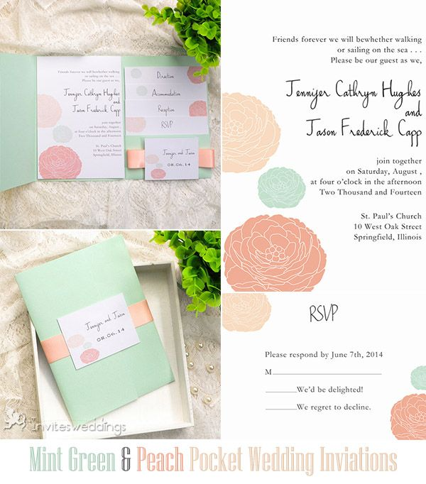 20 best Floral Wedding Invitations images on Pinterest