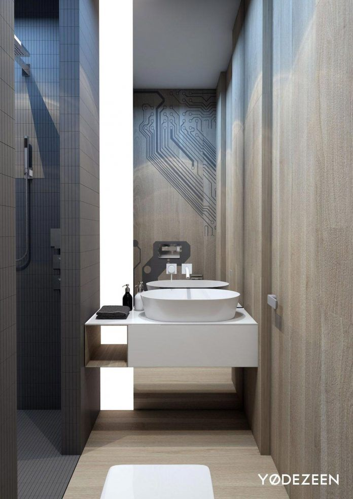 apartment mix modern architecture touch tradition vizualized yodezeen mar bathroomstoilets : architecture bathroom toilet