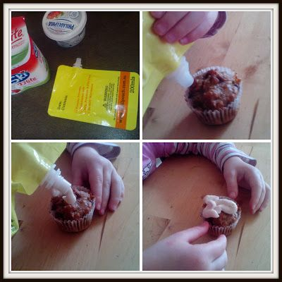 Declutterbug crafts: Adding an icing topping to a cupcake