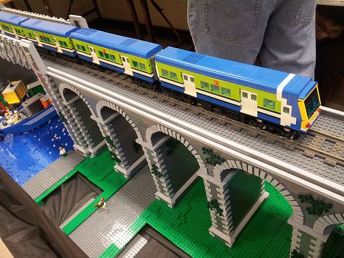 Lego trains at South Dublin Model Railway Show