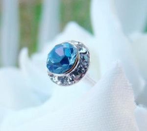 Lt Blue Crystal Pave Button Bouquet Jewels http://oneclassicwedding.com/Wedding-Accessories/Bouquet-Jewelry/Blue-Pave-Bouquet-Jewelry