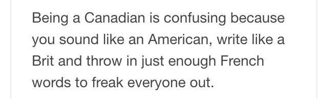 I'm not Canadian but still funny