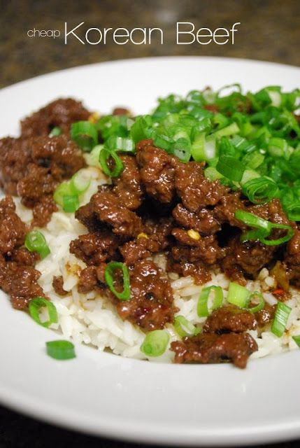 Korean Beef (ground beef)