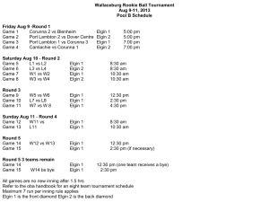 Pool B Schedule Wallaceburg Minor Baseball Association To Host St Clair River League Season End Rookie Ball Tournament Aug 9-11, 2013 #wallaceburgwarriors