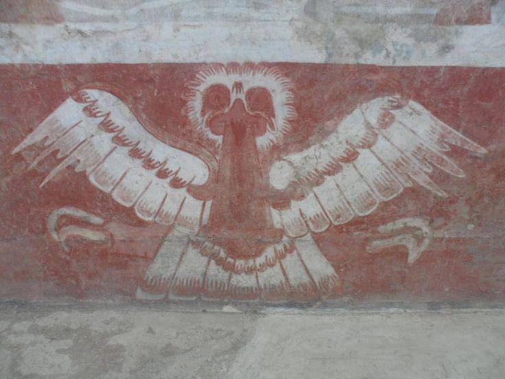 """""""Podemos sentir la vibración que viene de la llama de una vela, quemándolo camino en nuestra mente, sin imágenes borrosas, resplandeciente como cristal, entramos en la conciencia más alta, en nuestro camino de vuelta a casa, contamos con el ojo del águila, el ojo que puede ver lo invisible """".  ~ Michael Johnson Bassey  Murales de las Águilas Rojas, Palacio de Tetitla, Teotihuacán, pinturas Elaboradas Entre Los Años 600 y 700 dC"""