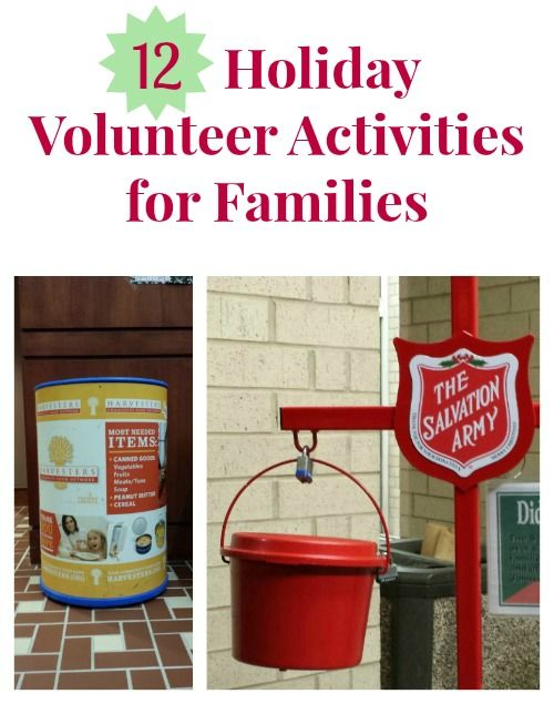 Great ways to celebrate giving to others during the holidays -- idea for families with kids of all ages!