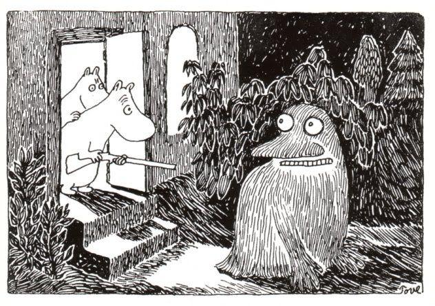 The Moomins encounter The Groke.
