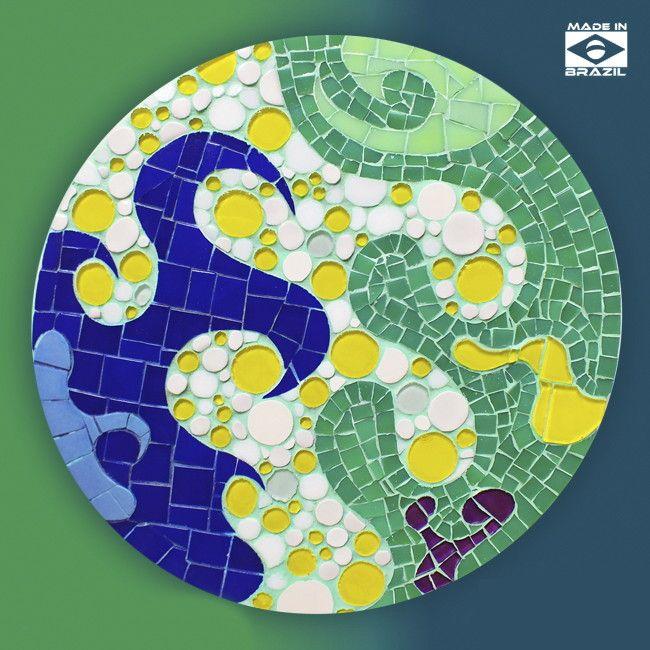 Mandala Celulas Vivas | OODS MOSAIC - Mosaicos Artísticos | Elo7