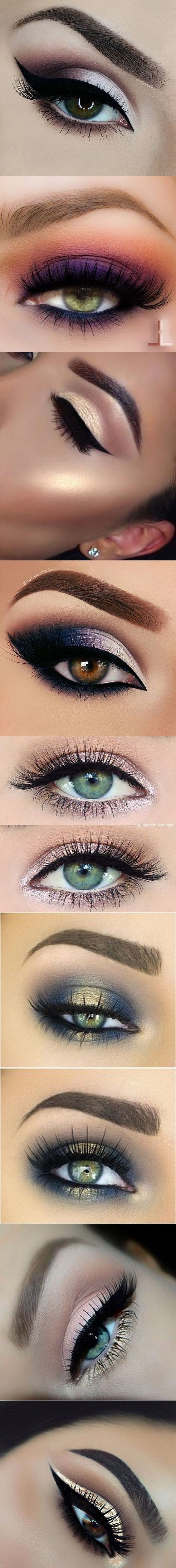 Inspiring eye looks. Which ones will you try?✖️More Pins Like This One At FOSTERGINGER @ Pinterest✖️