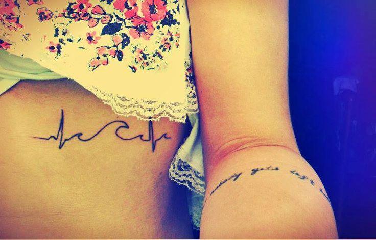 tattoo wave heartbeat sea
