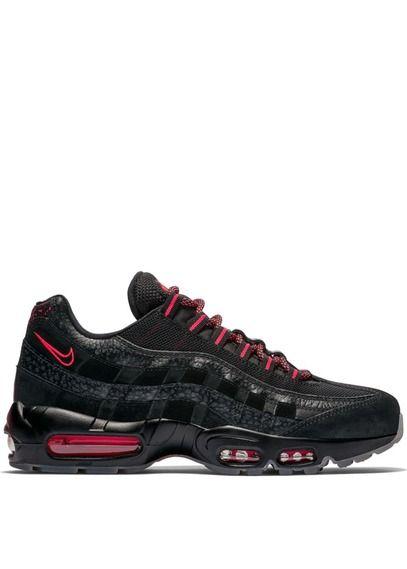 hot sale online da96b 47778 Nike Air Max 95 en cuir Noir by NIKE