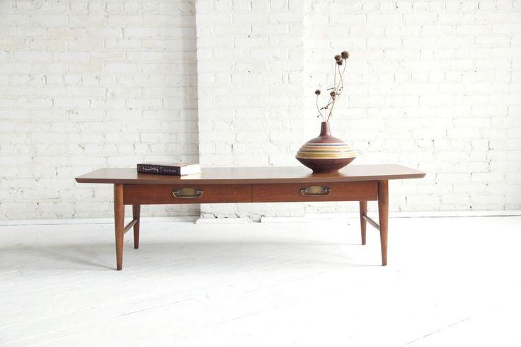 Mid century modern surfboard coffee table by Lane #MidCenturyModern