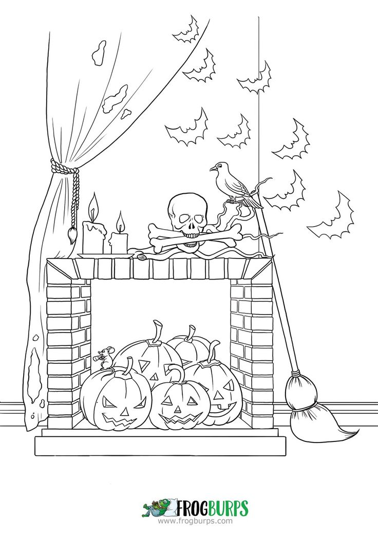 Halloween Decorations   Coloring Page