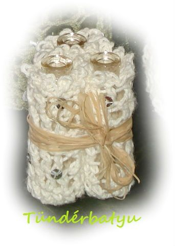 Crocheted small vial vase
