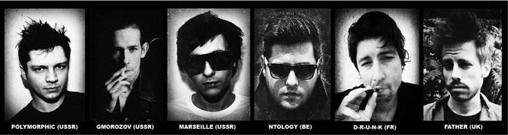 "The ""I Don't Need To Sleep"" remixers, D-R-U-N-K, Marseille, @Ntology, Polymorphic, FATHER, GMOROZOV"