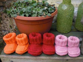Breimaan: crochet baby booties