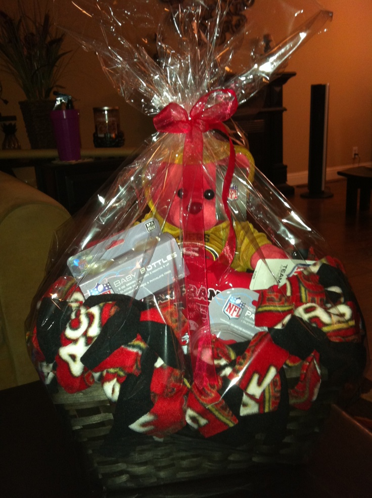 22 best gifts for him images on pinterest gifts for him 49er baby shower gift basket negle Choice Image