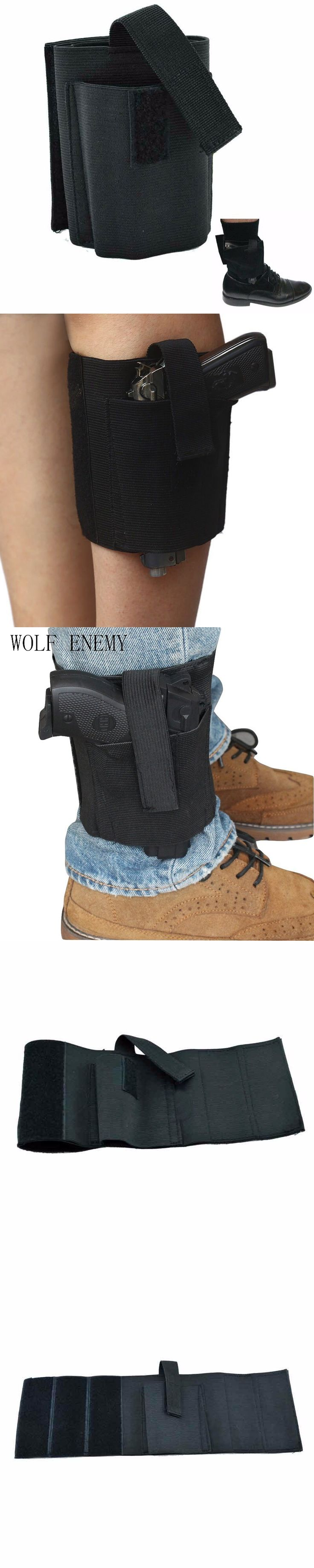 Concealed Universal Black Carry Ankle Leg Pistol Gun Holster LCP LC9 PF9 Small for sig 223 SCCY 9mm