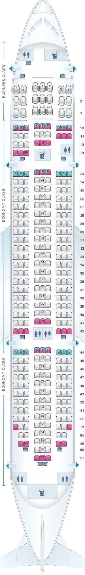 Seat Map Jetstar Airways Boeing 787-8 Dreamliner   SeatMaestro.com