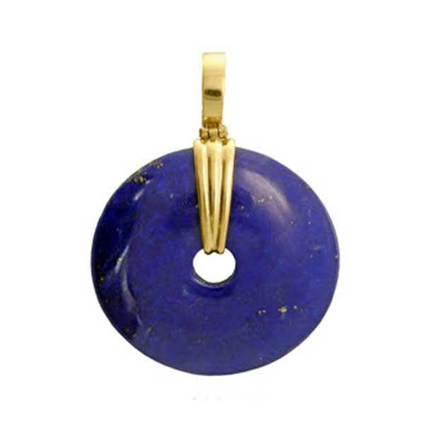 Chinese Lapis Lazuli Donut Pendant 4 cm 0qallt0T