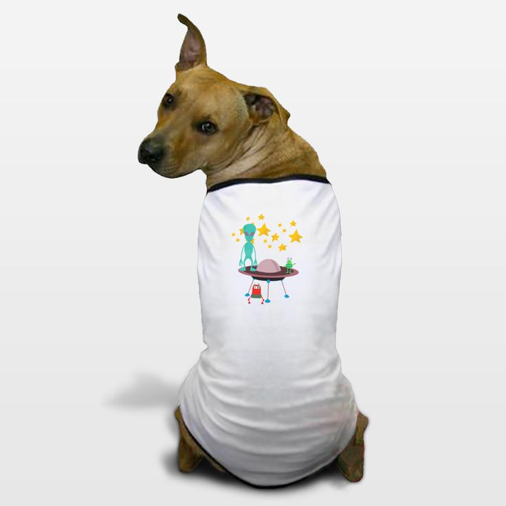 Shop for unique nursery art like the aliens Dog T-Shirts by haroulita on BoomBoomPrints today!  Customize colors, style and design to make the artwork in your baby's room their own!