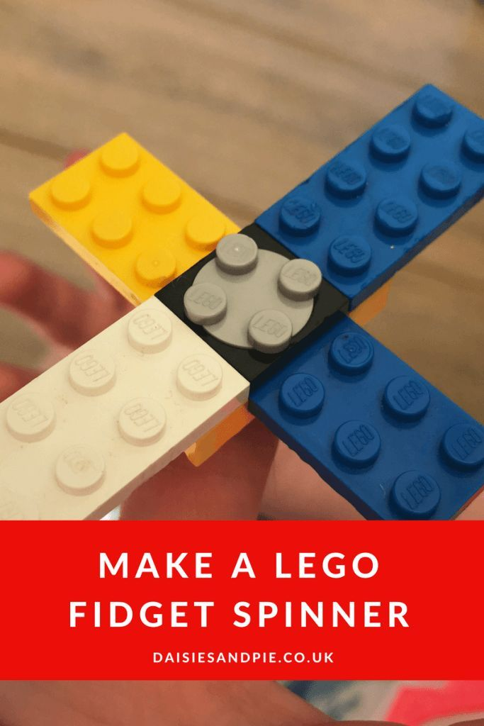 How to make a LEGO fidget spinner, homemade fidget spinners, easy kids activities