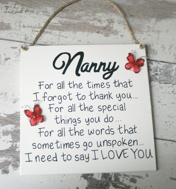 Personalised Plaque… For all the times I forgot to thank you…. Hanging wooden plaque~Handmade Plaque~Nanny gift~mothers day~Mothers Day Gift