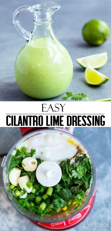 This Creamy Cilantro Lime Dressing Recipe Is Easy To Make And Has S Cilantro Lime Dressing Recipe Creamy Cilantro Lime Dressing Recipe Cilantro Dressing Recipe