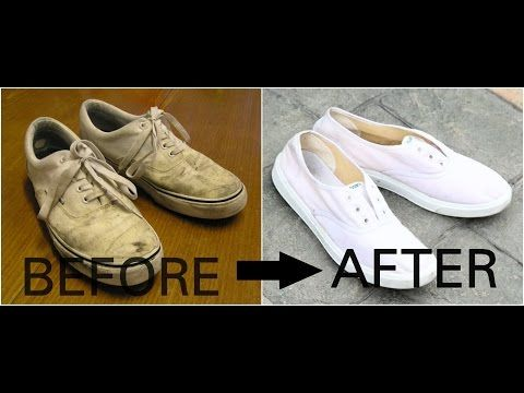 How to clean white canvas shoes with baking soda | Vans | Converse | Adidas Superstars | Nike - YouTube